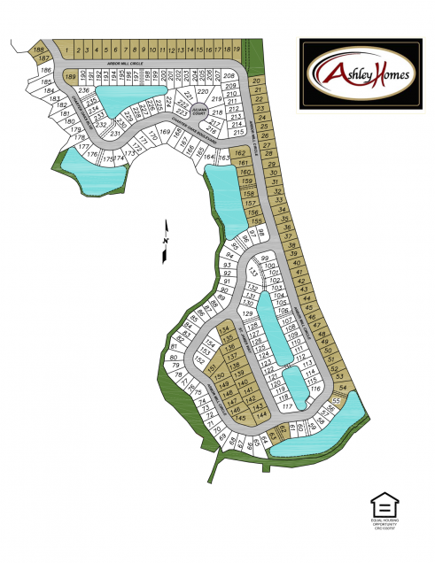 Arbor Mill at Oakleaf Plantation Sitemap