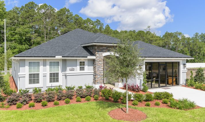 Traceland Model Home Plan 2154 w/ Stone Accent (Elevation A)